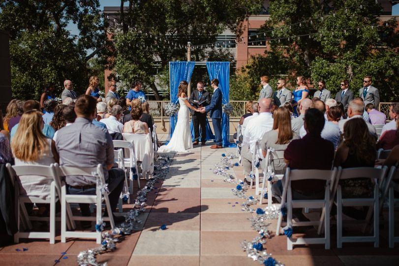 Rooftop Deck Ceremony
