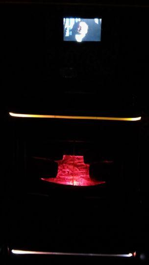 Fireplace inside of Hummer H2