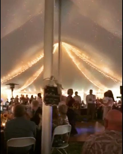Indoor lighting of tent