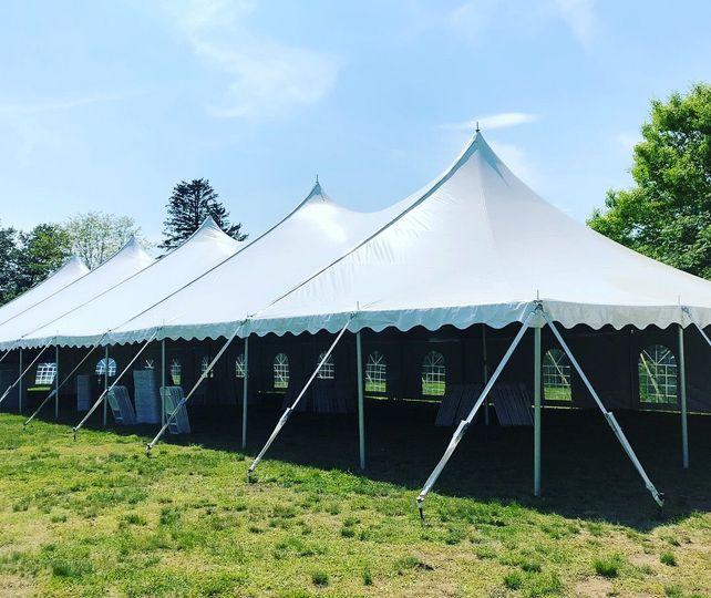 Open tent set-up