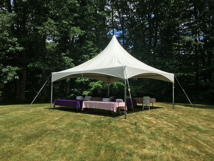 Simple tent set-up