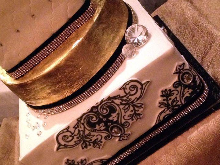 Tmx 1446480367662 Baroque Bling 2 Website Blue Springs wedding cake