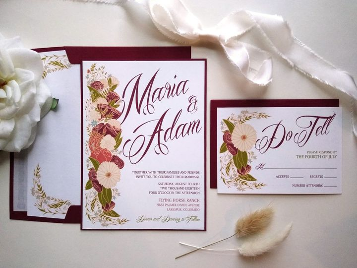 Tmx Rusticfloral 192455698 Mp 51 999280 159349051735940 Denver, CO wedding invitation
