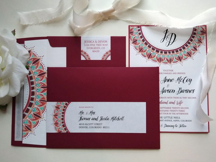 Tmx Sunmandala 193500932 51 999280 159349052678840 Denver, CO wedding invitation