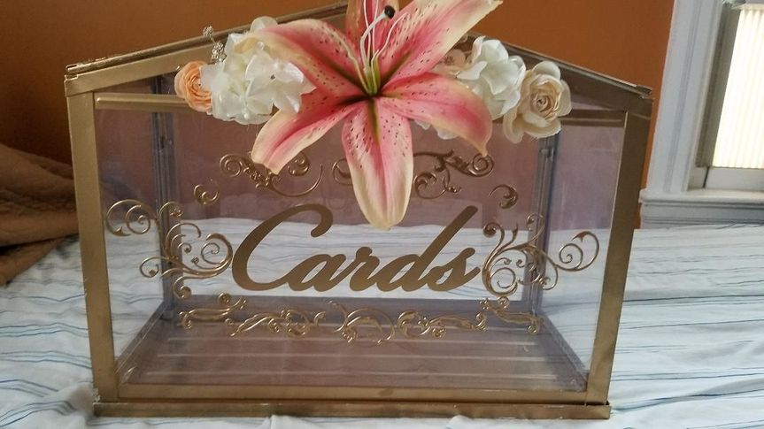 Cardbox for coral wedding