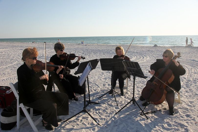 String music at the beach