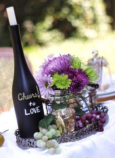 wine wedding theme table 3