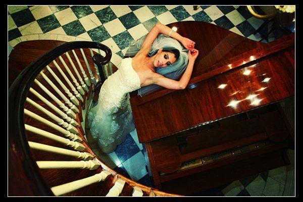 Bride by the piano