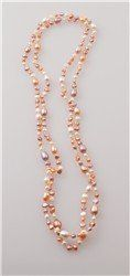 Real freshwater pearls in soft pinks with hints of grey and white add elegance and class to any...