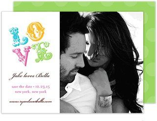 Love Wedding Digital Photo Save the Date by Modern Posh