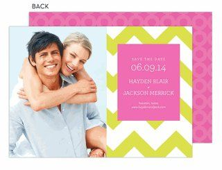 Chevron Wedding Save The Date Photo Card by Modern Posh