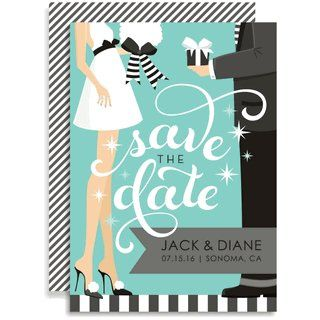 Swirly Save The Date - Blue Invitations by Doc Milo