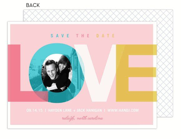 Love Theme Save The Date Photo Card by Modern Posh