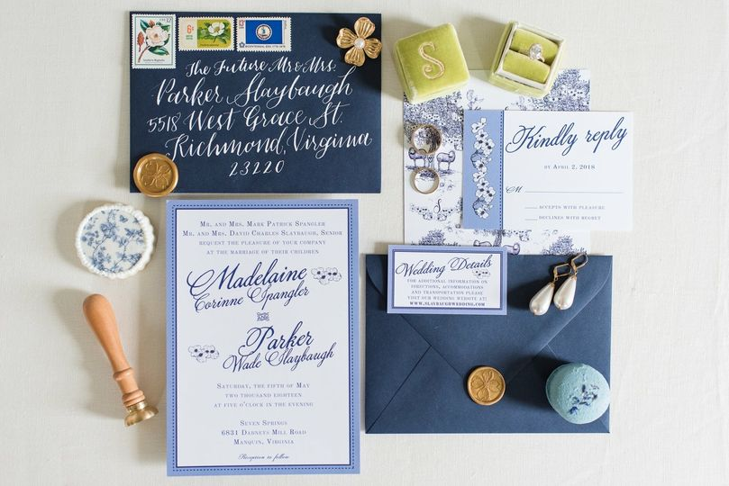 Wedding invitation and props