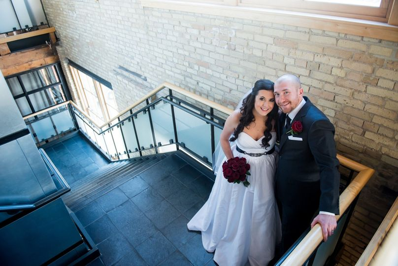 fargo winter wedding at the plains art museum and