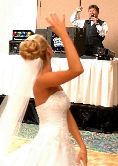 Happy dancing bride!