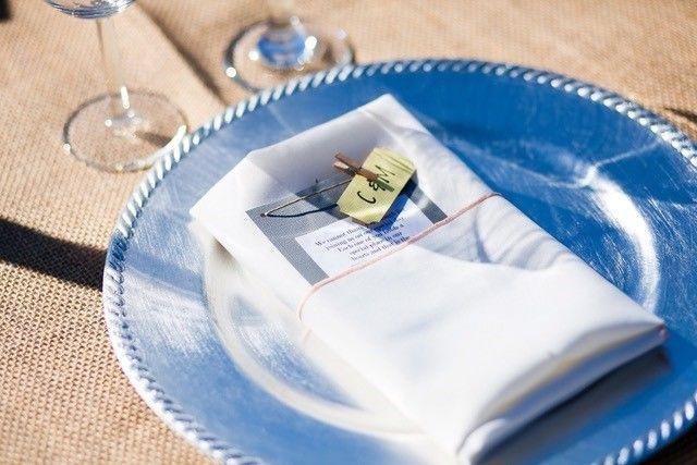 Table napkin and menu card