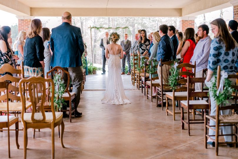 Outdoor Ceremony on the Patio