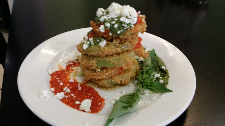 Fried Green Tomatoes as featured of Secrets of Bluegrass Chefs