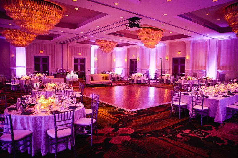 nicole and jimmy ballroom with dance floo