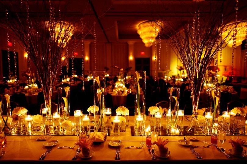 candle lit ballroom azul photograph
