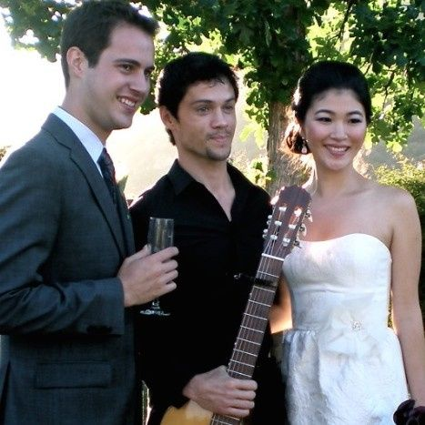 Guitarist and the newlyweds
