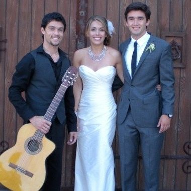 Newlyweds with the guitarist