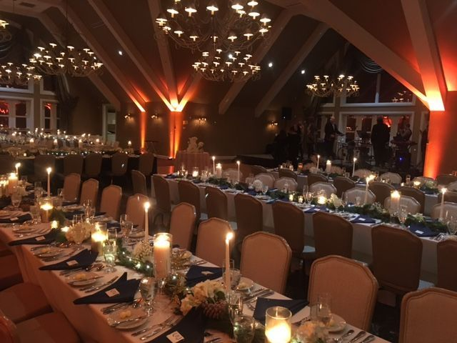 ballroom at the club at nevillewood family stylebanquet tables
