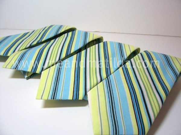 Me and Matilda Everyday Neckties in Lime Stripes