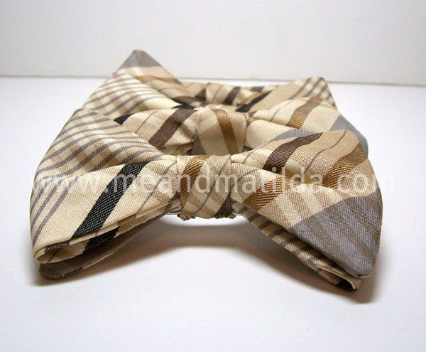 Fall Party Plaid Satin Bowtie for Little Boys