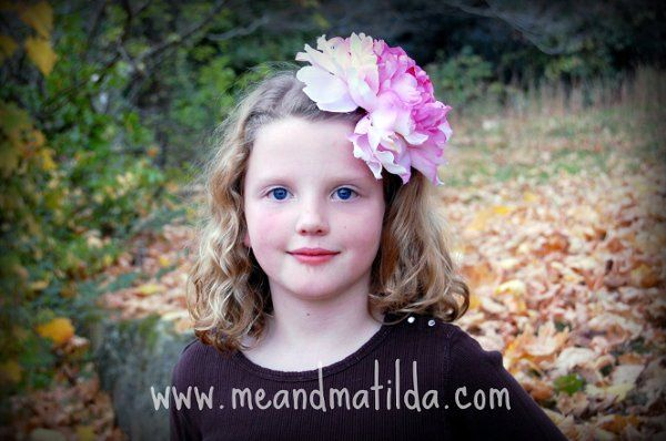 Pink Peony Flower Hairclip