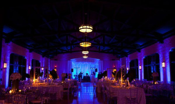 Up lighting adding a beautiful ambiance to the room!