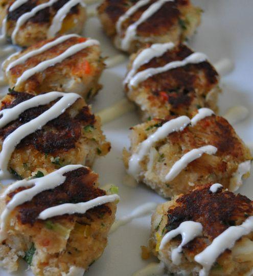 Maine peekytoe crab cakes