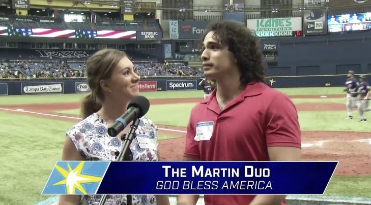 Singing For The Tampa Bay Rays