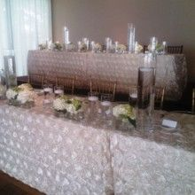 Large Head Table accomodations