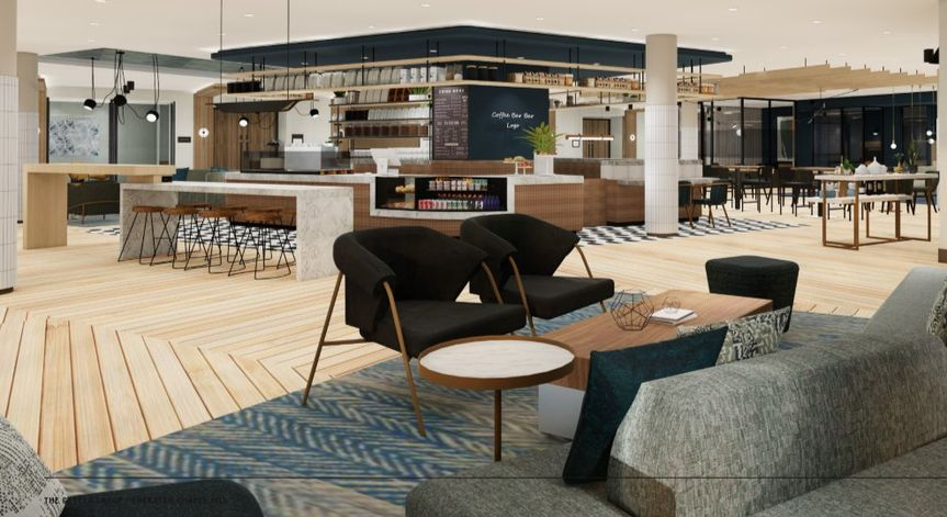 Lobby and coffee bar