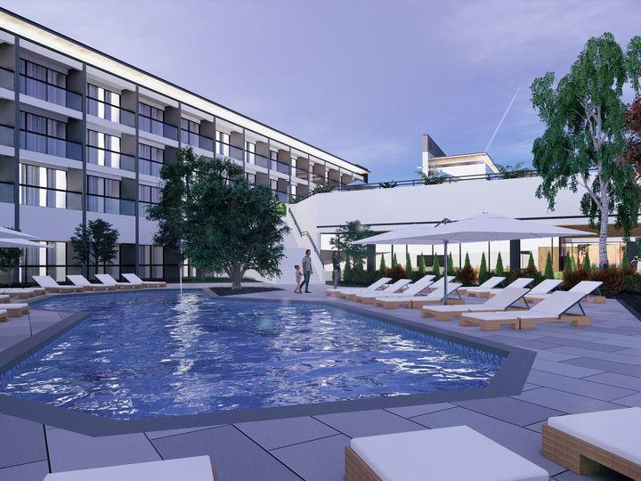 Tmx Sheraton Pool Night View 7 51 615480 160285723690922 Chapel Hill, NC wedding venue