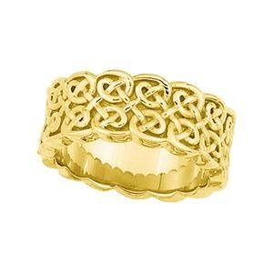 Beautiful Celtic knot wedding ring designed by Stuller Studios, available in 10K, 14K 18K Gold