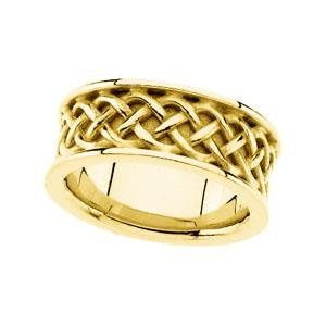 7.5 mm Celtic ring from Stuller Studios available in 10K, 14K, & 18K Gold