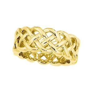 Beautiful Celtic inspired wedding ring designed by Stuller Studios, available in 10K, 14K 18K Gold