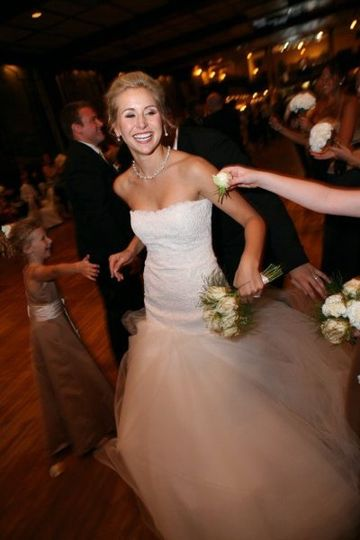 Bride at her reception