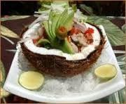 Wedding App Selection- Island Ceviche in Coconut Shell