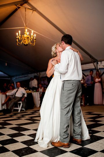 Dance the night away under our white event tent.