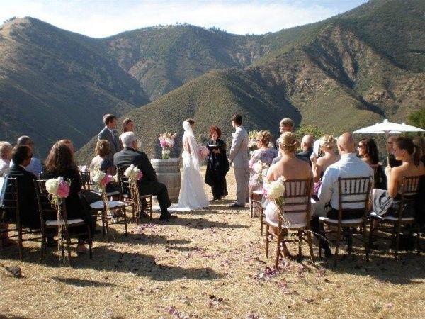 Mountainside wedding