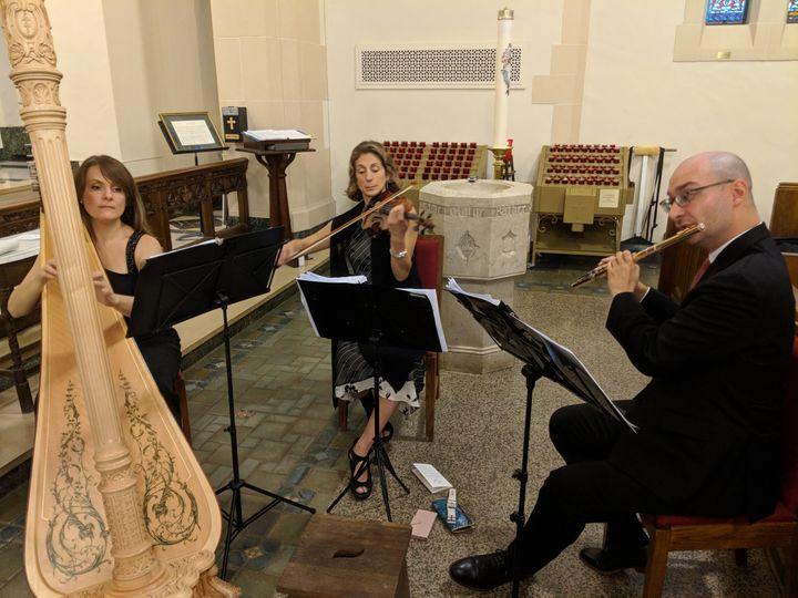 Harp/ flute/ violin trio