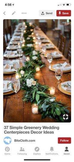 Table garland, eucalyptus adde