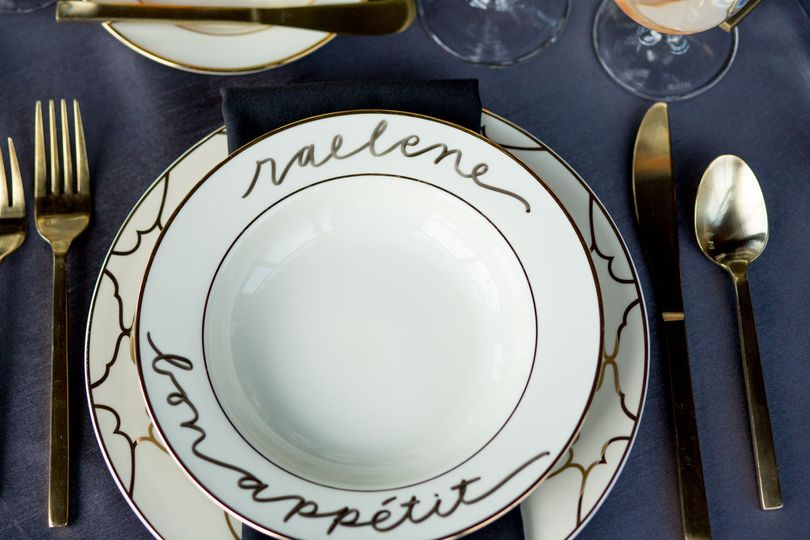 Calligraphied Soup Bowls Jessica Hill Photography