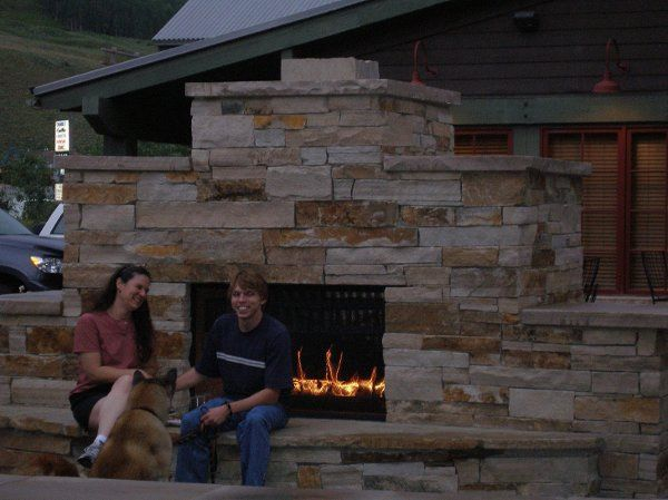 The Pavilion's over-sized stone fireplace on the patio allows your guests to comfortably enjoy the...