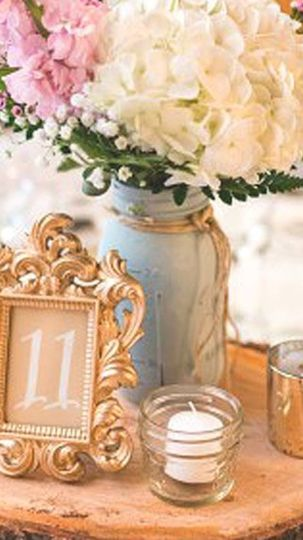 Gold frames and linens