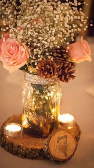 Tea lights and flower jars
